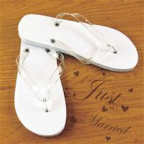 10 20 30 40 & 50 Mixed Size Bulk White Wedding Flip Flops